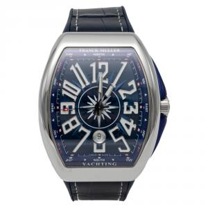 Frank Muller Blue Dial Vanguard Yachting Stainless Steel Automatic Watch 44MM