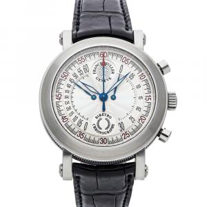 Franck Muller Silver Stainless Steel Bi-Retrograde Chronograph 7000CCBACW Men's Wristwatch 40 MM