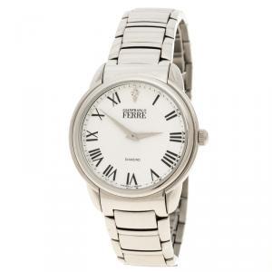 Gianfranco Ferre White Stainless Steel Men's Wristwatch 40MM