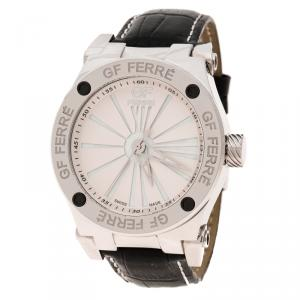 Gianfranco Ferre White  Mother of Pearl Stainless Steel GFss7397.1.2 Men's Wristwatch 46 mm