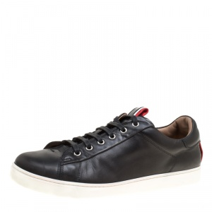 Gianvito Rossi Black Leather Low Top Sneakers Size 43