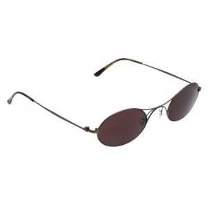 Giorgio Armani Metallic/Brown AR6018-T Titanium Frame of Life Sunglasses