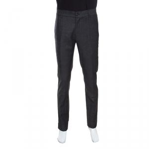 Giorgio Armani Grey Wool Elasticized Waist Tailored Trousers XL