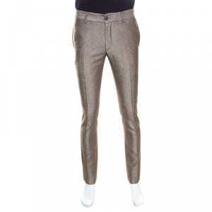 Giorgio Armani Brown Wool Blend Tailored Trousers S