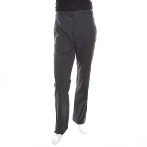 Giorgio Armani Grey Wool Tailored Trousers S