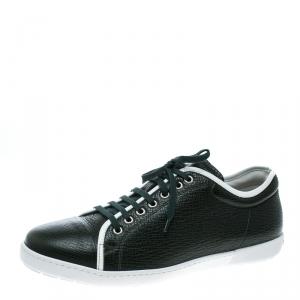 Giorgio Armani Green Leather Sneakers Size 42