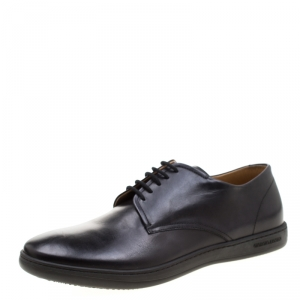 Giorgio Armani Black Leather Lace Up Derby Size 42