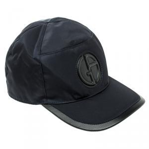 Giorgio Armani Navy Blue Nylon Logo Baseball Cap