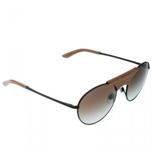 Giorgio Armani Brown Wood / Grey Gradient AR6017 - T- K Aviator Sunglasses