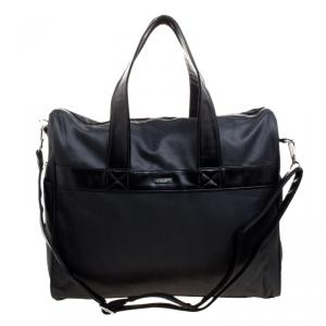 Giorgio Armani Dark Grey Fabric and Leather Parfume Duffel Bag