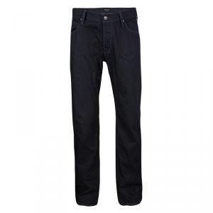Giorgio Armani Indigo Dark Wash Denim Straight Fit Jeans XL