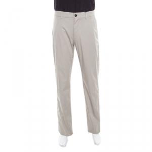 Giorgio Armani Beige Cotton Stretch Tailored Trousers XL