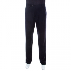 Giorgio Armani Navy Blue Wool Tailored Straight Fit Trousers XXL
