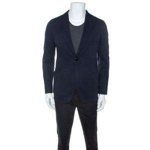 Giorgio Armani Navy Blue Cotton Blazer M