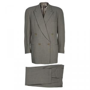 Giorgio Armani Men's Beige Wool Suit L