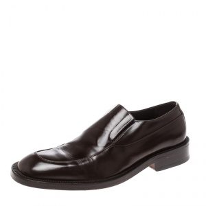 Giorgio Armani Brown Leather Loafers Size 43