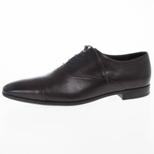 Giorgio Armani Brown Leather Classic Oxfords Size 44