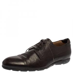 Giorgio Armani Brown Leather Lace UP Oxfords Size 44