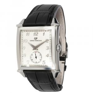 Girard Perregaux White Stainless Steel Vintage 1945 XXL 25880-11-121-BB6A Men's Wristwatch 36 MM