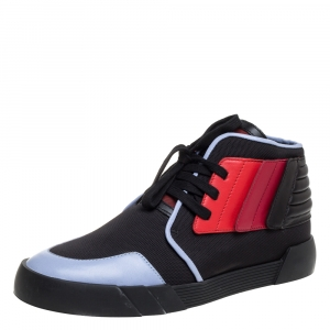 Giuseppe Zanotti Multicolor Leather And Canvas High Top Sneakers Size 46