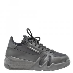 Giuseppe Zanotti Black Leather Sneakers Size EU 41