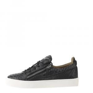 Giuseppe Zanotti Black Python Print Frankie Sneakers Size EU 44