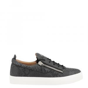 Giuseppe Zanotti Black Python Leather Frankie Sneakers Size EU 41