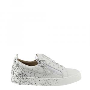 Giuseppe Zanotti White Frankie Spray Sneakers Size EU 41