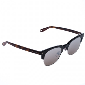 Givenchy Black/Brown Tortoise GV7083 Mirror Half Rim Sunglasses