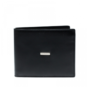 Givenchy Black Leather Bi Fold Wallet