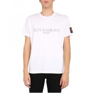 Givenchy White Cotton Logo Print T-Shirt Size L -