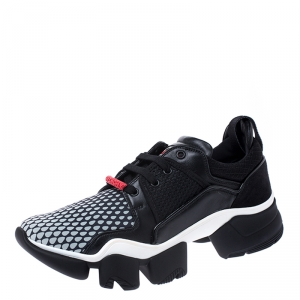 Givenchy Black Leather and Mesh Jaw Low Top Sneakers Size 44