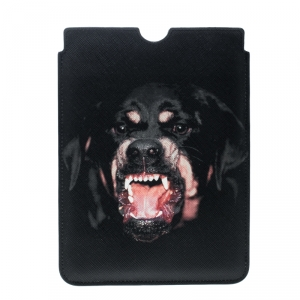 Givenchy Black Coated Canvas Rottweiler IPad Mini Case