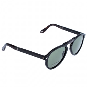Givenchy Black Foldable Aviator Sunglasses