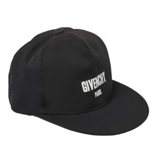 Givenchy Black Logo Print Canvas Cap