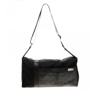 Givenchy Black Nylon and Leather Duffle Bag