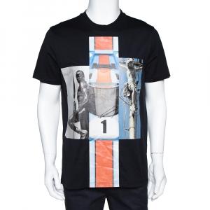 Givenchy Black Mix Print Cotton Crew Neck T-Shirt M - used
