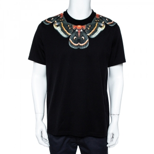 Givenchy Black Butterfly Print T-Shirt XL - used
