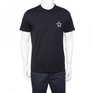Givenchy Black Cotton Star Print Crewneck T Shirt M - used