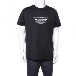 Givenchy Black Studio Homme Podium Printed Cotton Crewneck T Shirt M - used