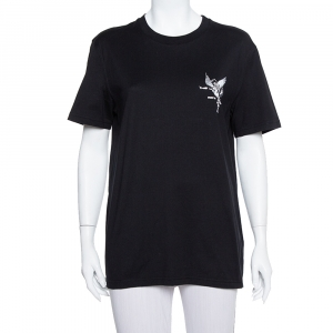Givenchy Black Cotton Devil Print Crewneck T-Shirt L - used