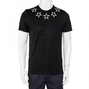 Givenchy Black Star Print Cotton Crewneck T-Shirt S - used