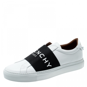 Givenchy Monochrome Leather Urban Street Knot Detail Slip On Sneakers Size 39