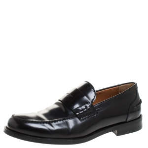 Givenchy Black Leather Loafers Size 43