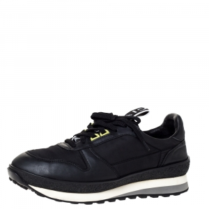 Givenchy Black Nylon and Leather TR3 Runner Sneakers Size 42