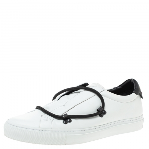 Givenchy White Leather Urban Street Hike Slip On Sneakers Size 44