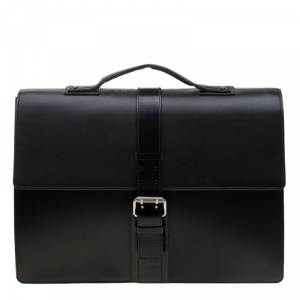 Givenchy Black Leather Briefcase