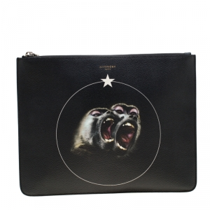 Givenchy Black Monkey Brothers Leather Pouch