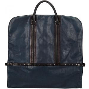 Givenchy Navy Blue Studded Leather Garment Bag
