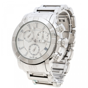 Givenchy Silver White Stainless Steel GV.5220J Men's Wristwatch 48MM
